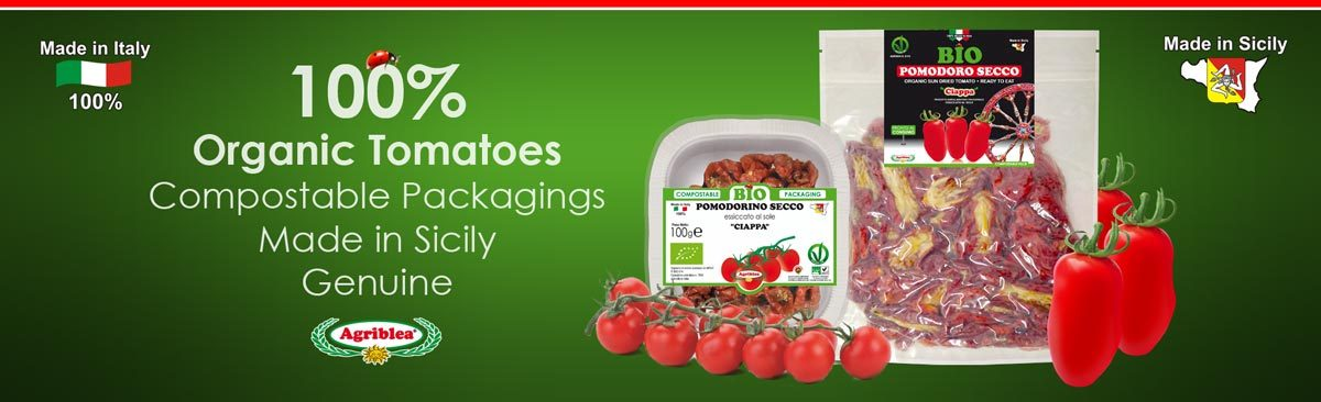 Sun dried tomatoes, sun cherry tomato and capuliato 100% organic made in Sicily by Agriblea