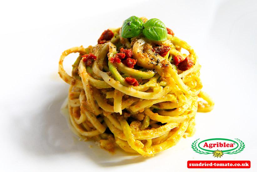 spaghetti with trapanese pesto and capuliato