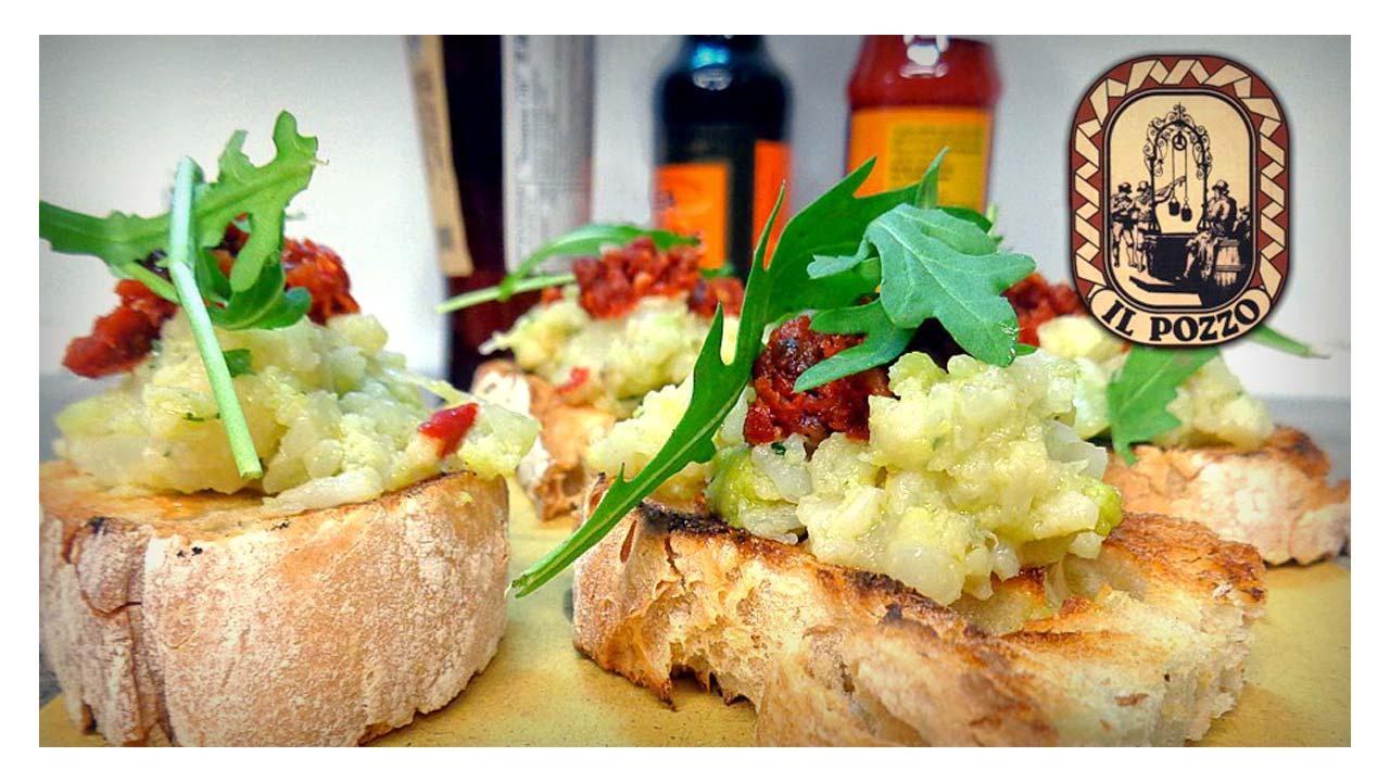 Vegan sliced bread with Capuliato (sun dried chopped tomato)