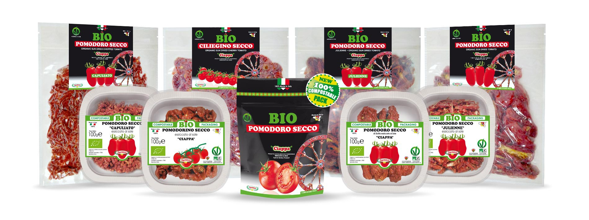 Agriblea products - ORGANIC Sun dried Tomatoes