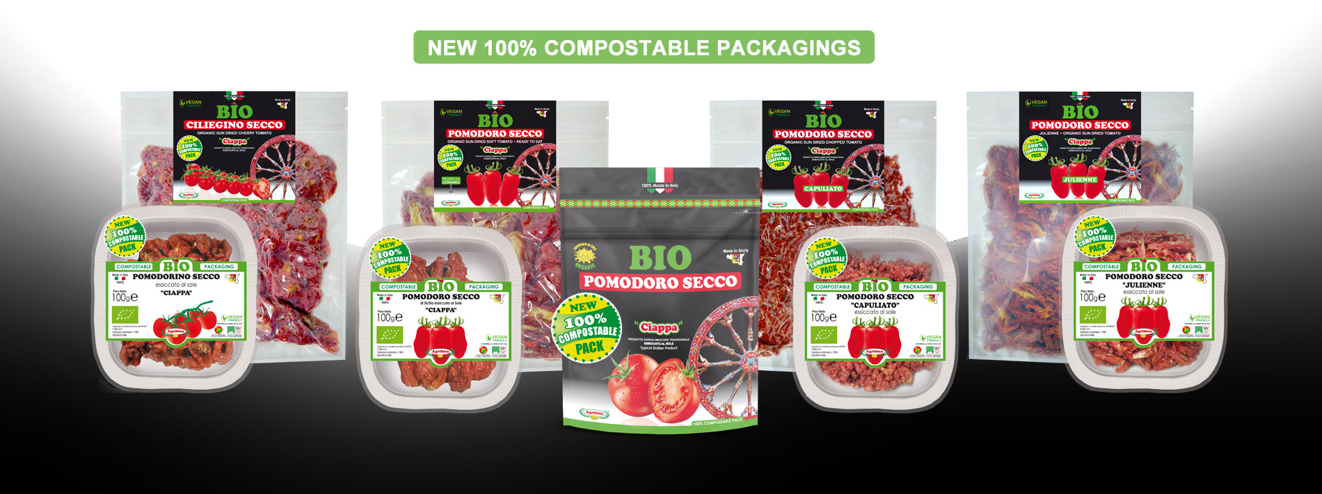 Organic Sun dried tomato - 100% Compostable Packagings Agriblea