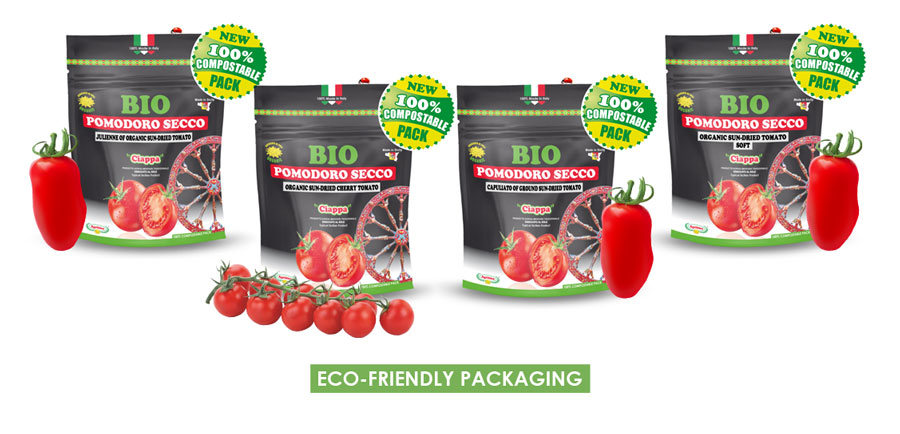ORGANIC Sun-dried Tomatoes in 100% Compostable Pack