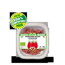 Compostable tray Capuliato (sun dried ground tomato)