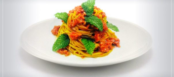 Organic Sun-dried tomatoes patè - spaghetti recipe